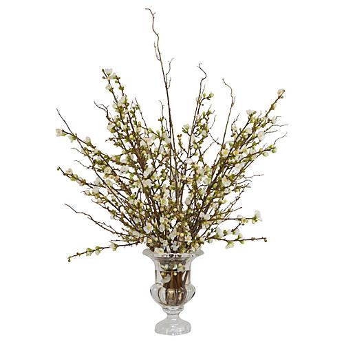 "39"" Blossom Arrangement in Vase, Faux"