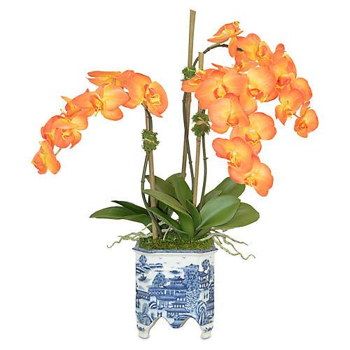 """26"""" Orchids Planter Arrangement, Faux"""