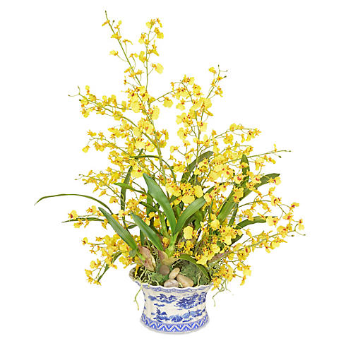 "31"" Oncidium Orchid Arrangement, Faux"