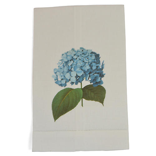S/2 Hydrangea Guest Towels, Blue