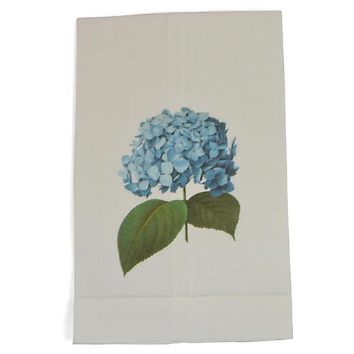 S/2 Hydrangea Guest Towels, Blue