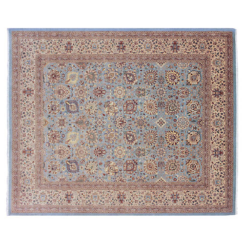 "8'5""x10'2"" Colin Rug, Light Blue/Tan"