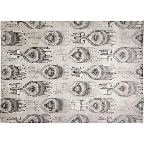 9'x12' Jackson Rug, Ivory/Gray