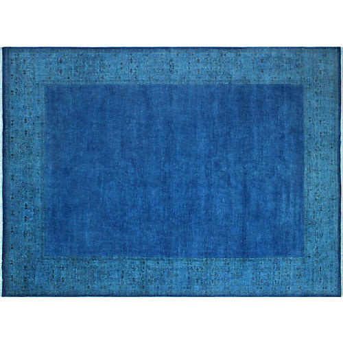 """13'5""""x9'11"""" Azhar Rug, Ink Blue"""