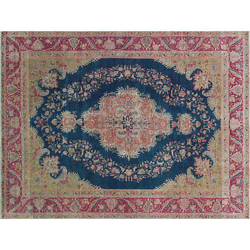 "9'7""x12'4"" Zouhir Rug, Blue/Red"