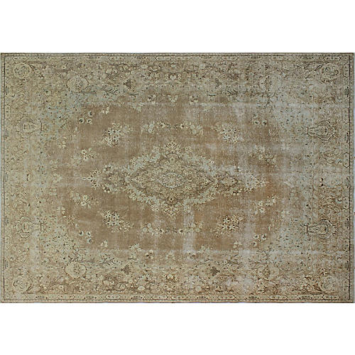 """9'6""""x13'10"""" Aldn'd Hand-Knotted Rug, Brown/Beige"""