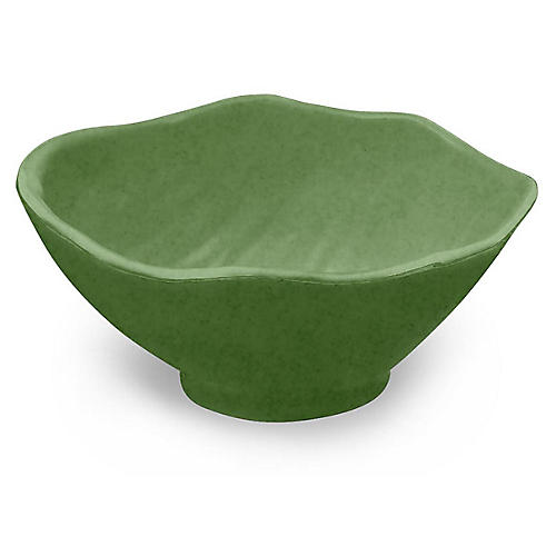 S/12 Amazon Leaf Melamine Bowls, Green