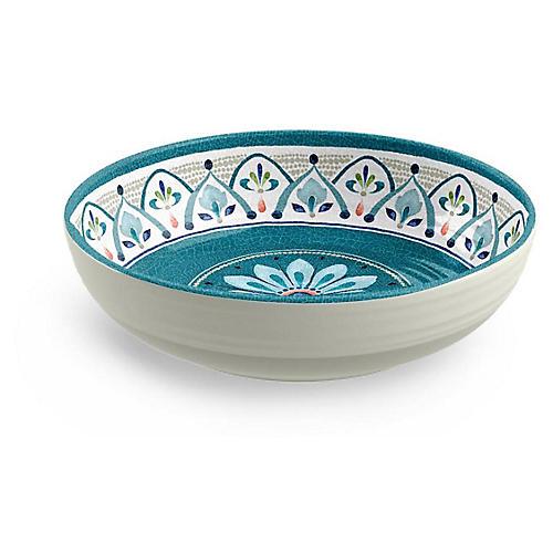 S/6 Moroccan Medallion Melamine Bowls, Teal