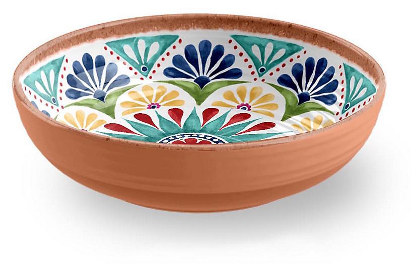 S/6 Rio Melamine Bowls, Blue