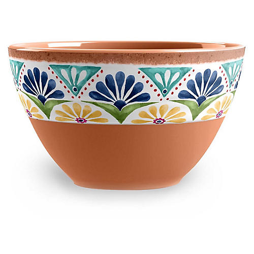 S/6 Rio Melamine Bowls, Tan