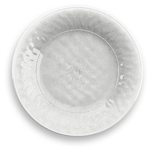 S/6 Potters Melamine Salad Plates, White