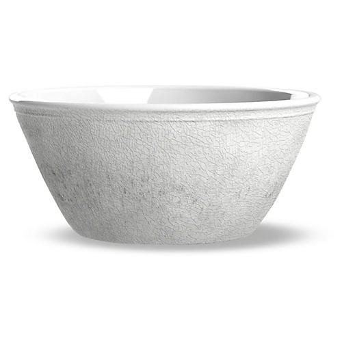 S/6 Potters Melamine Bowls, White
