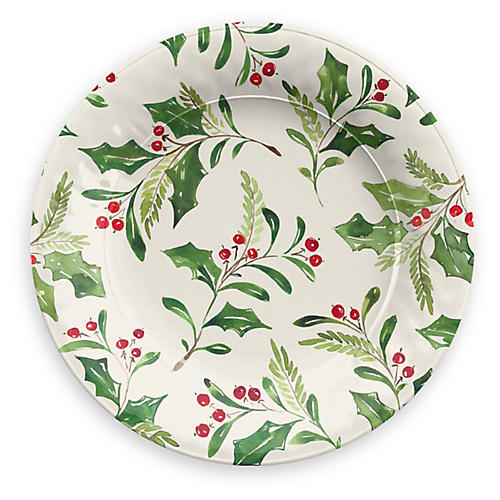 S/6 Mercer Salad Plates, Cream/Multi
