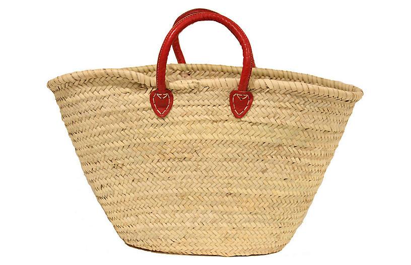 Palm-Leaf Bag, Red