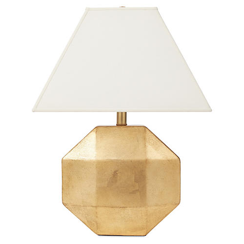 Ascher Ceramic Lamp, Gold