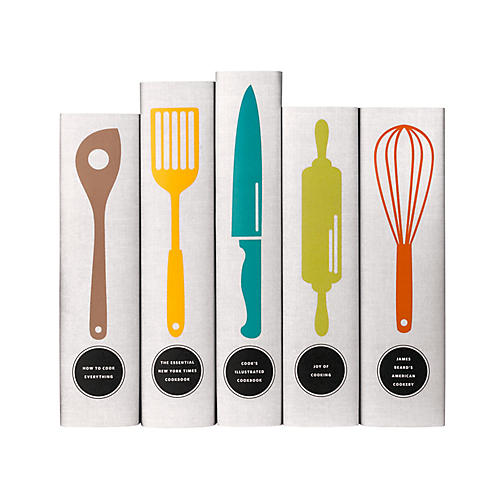 S/5 Classic Cookbooks Utensil Books
