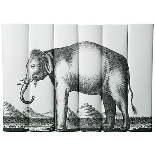 S/6 Decorative Elephant Books