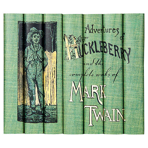 S/7 Mark Twain Books Huck Finn Set