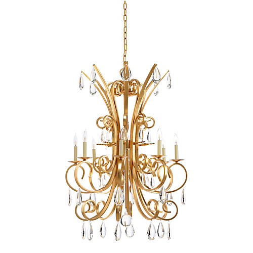 Grand Stairs Chandelier, Gold