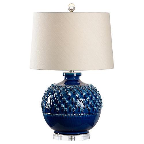 Carlotta Table Lamp, Indigo Glaze