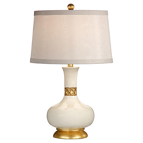 Mimi Table Lamp, Gardenia White/Gold
