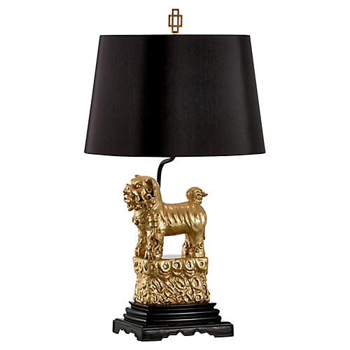 Foo Foo Left-Facing Table Lamp, Gold