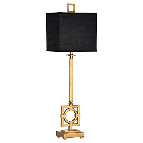 Bangle Table Lamp, Antiqued Gold