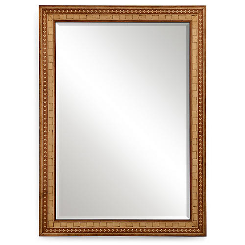 Donella Wall Mirror, Satinwood