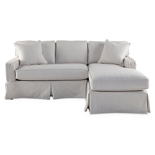 Liza Right-Facing Sectional, Bone