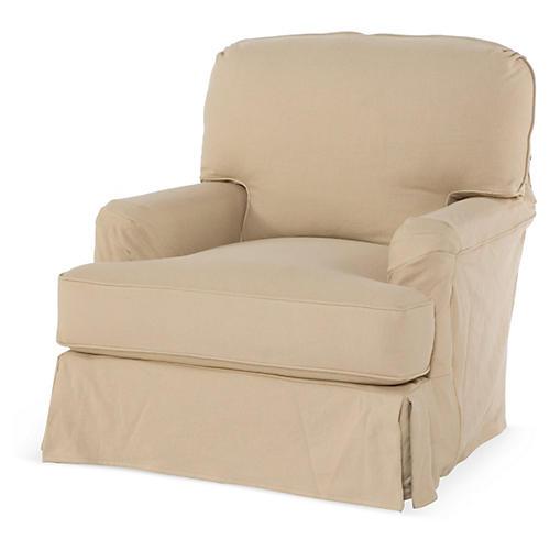 Caroline Club Chair, Linen