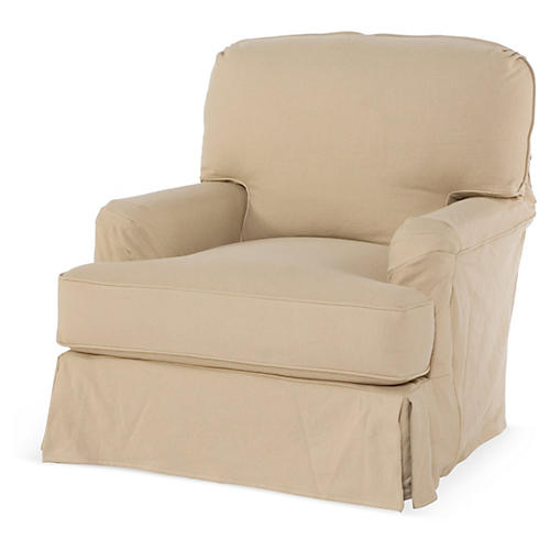 Caroline Club Chair, Linen