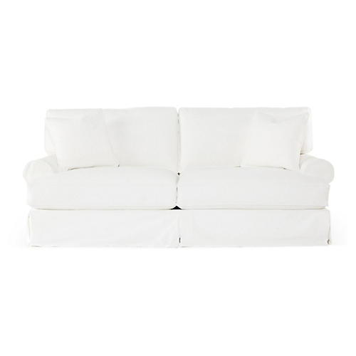 "Lauren 89"" Sofa, White"
