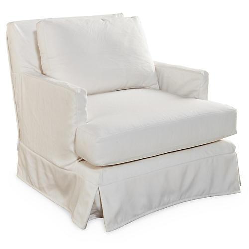 Pamela Swivel Chair, White