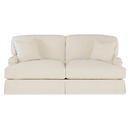 Caroline Sofa, Ecru Cotton