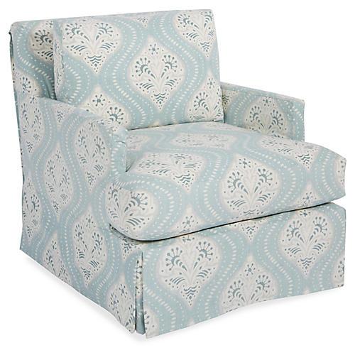 Pamela Swivel Glider Chair, Mist
