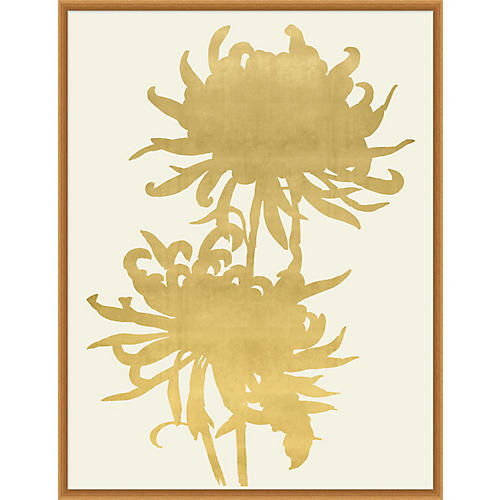 Lillian August, Gold Leaf Wood Cut 2