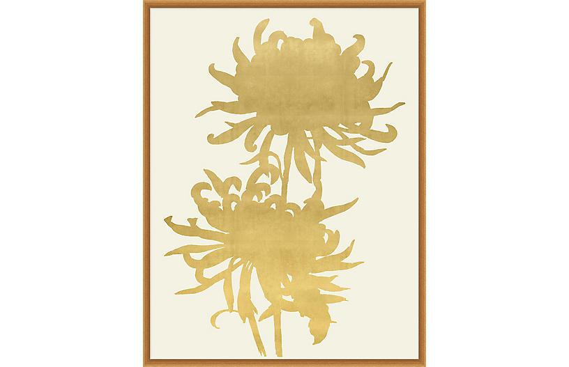 Lillian August, Gold Leaf Wood Cut 2