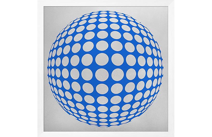 Lillian August, Silver Leaf Graphic Blue