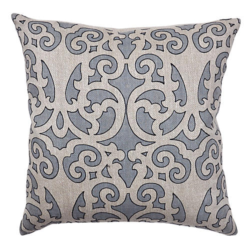 Joon 22x22 Cotton Pillow, Slate