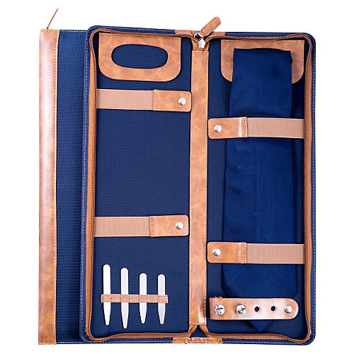 Ballistic Nylon Travel Tie Case, Blue