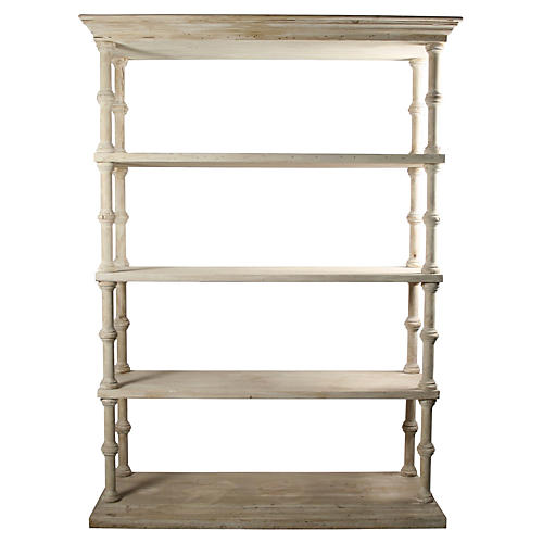 """Reclaimed 62"""" Roman Bookcase, Unfinished"""