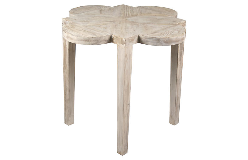 Quatre Feuille Side Table, Unfinished