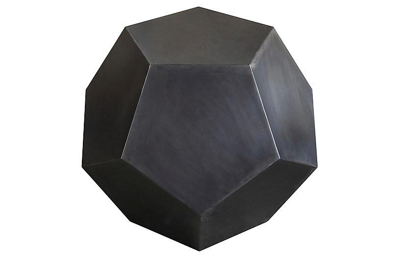 Pentagon Side Table, Black