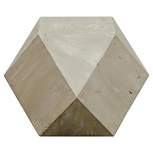 Icosahedron Side Table, Natural