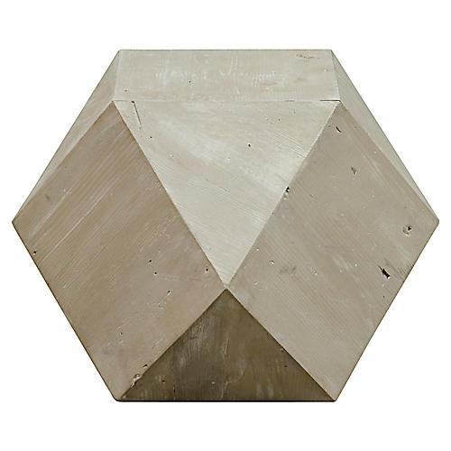 Icosahedron Side Table, Natural