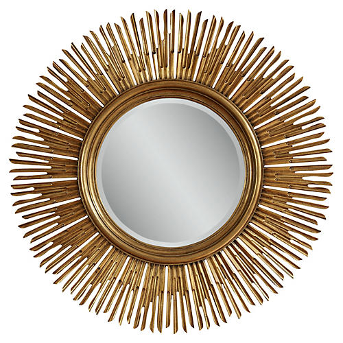 "Raina 48"" Oversize Mirror, Antiqued Gold"