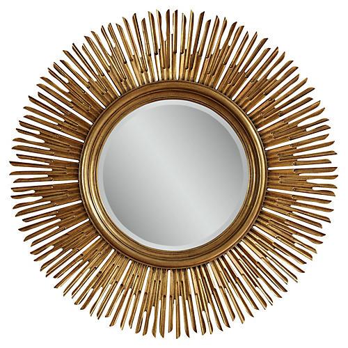 "Raina 48"" Oversize Mirror, Antiqued Gold"
