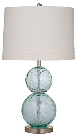 Glass Table Lamp Sea Blue One Kings Lane, One Kings Lane Corrine Table Lamp