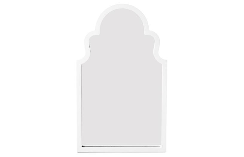 Elberta Wall Mirror, White