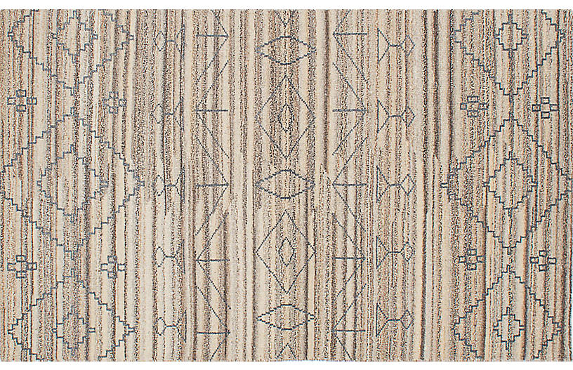 5'x8' Eternity Rug, Brown/Cream